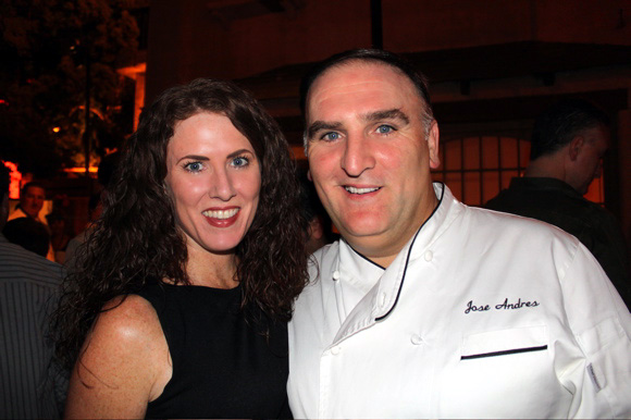 Sara O'Donnell and Jose Andres at American Wine & Food Festival