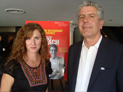 Anthony Bourdain & Average Betty at the UCLA Extension Restaurant Industry Conference
