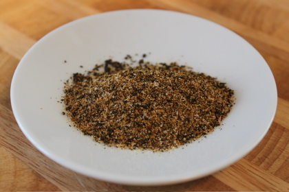 Chai Tea Rub and Dressing