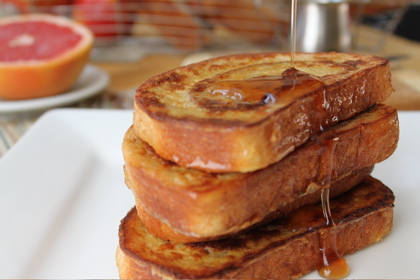 French Toast made with Cinnamon Swirl Bread