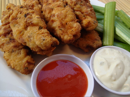 Buttermilk Fried Chicken Fingers with Honey Mustard Dipping Sauce
