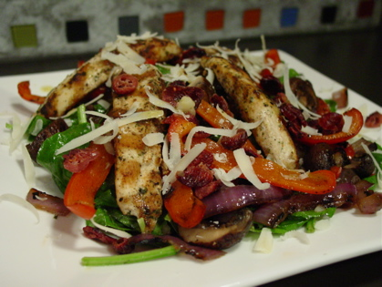 Grilled Spinach Salad