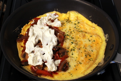 Mushroom Asiago Omelette Recipes — Dishmaps