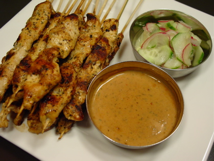 Link to the Chicken Satay with Peanut Sauce recipe.