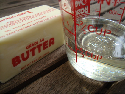 1/2 cup butter to oil