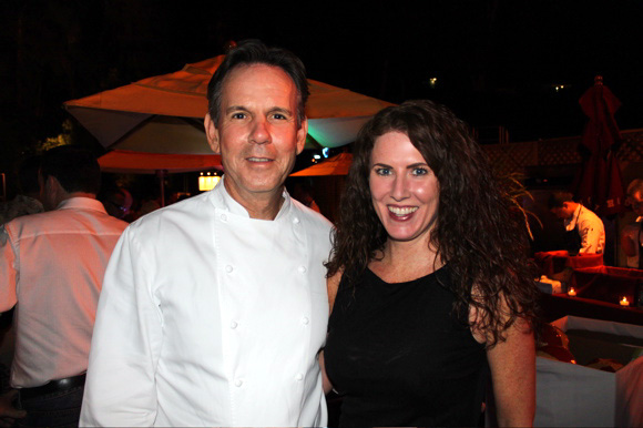 Sara O'Donnell and Chef Thomas Keller at American Wine & Food Festival