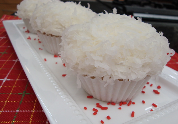 Snowball Cupcakes at Unilever Test Kitchen