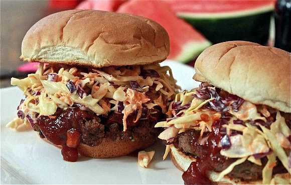 Get the BBQ Burger with Coleslaw Recipe