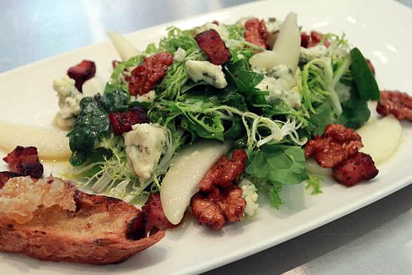 Frisee and Spinach Salad