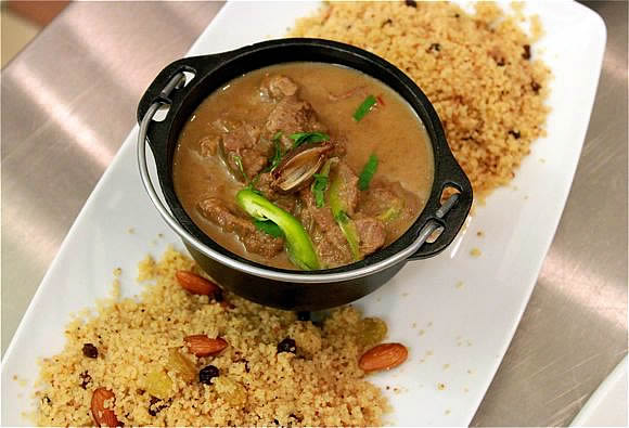 Get the recipe for Tagine of Lamb in Star Thistle Honey Broth