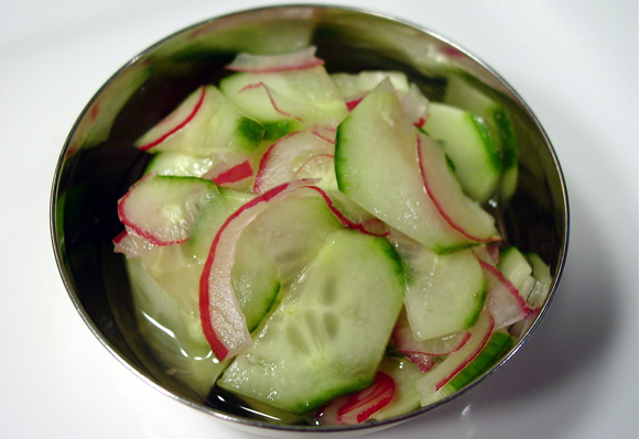Cucumber Salad for Chicken Satay with Peanut Sauce