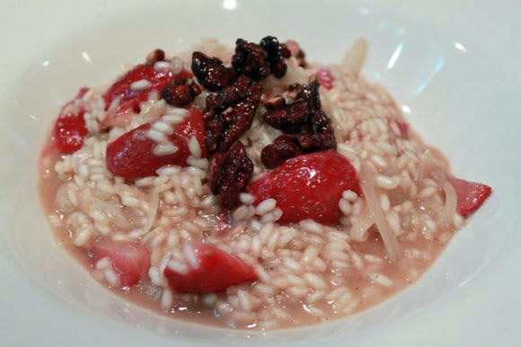 Fabio Viviani's Champagne Strawberry Risotto