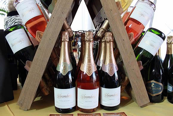 Jensen's Fine Foods Champagne display