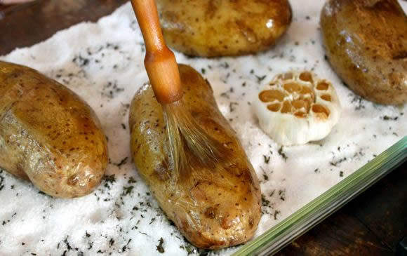 Salt Baked Potatoes Recipe