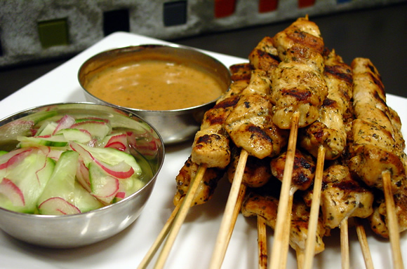 Click for the Chicken Satay and Cucumber Salad Recipe