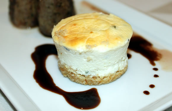 Adam Cho's Goat Cheese Cheesecake