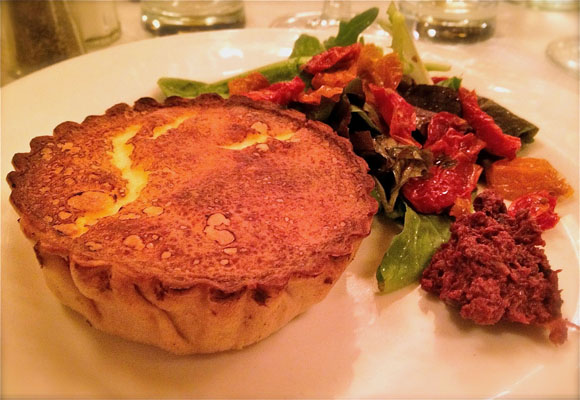 The Warm Goat Cheese and Caramelized Onion Tart from Balthazar ...