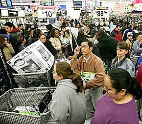 Black Friday Shoppers at Walmart via Wikipedia