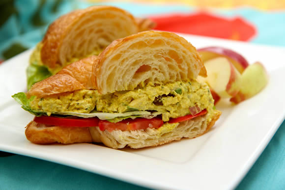 Spicy Curry Chicken Salad Sandwiches Recipes — Dishmaps