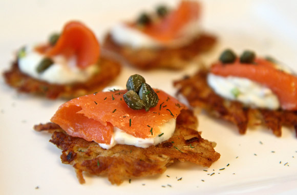 Get the Crispy Potato Galette with Smoked Salmon and Dill Cream Recipe