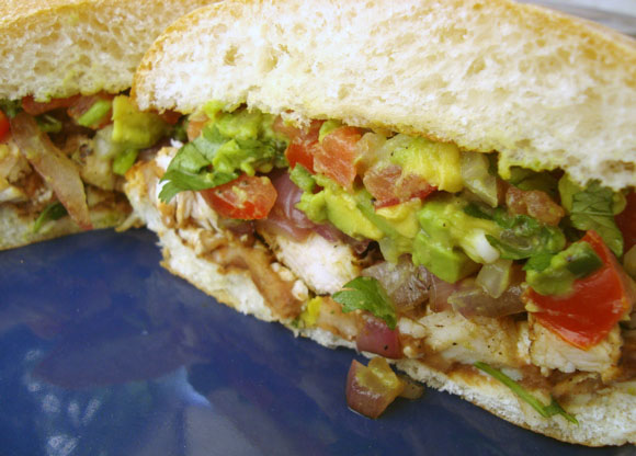 Get the Grilled Chicken Torta Recipe