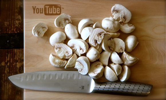 Mushrooms on YouTube Cutting Board