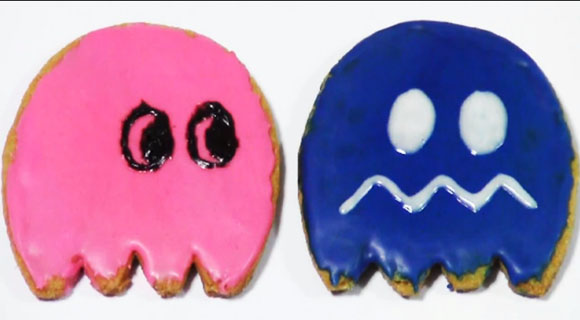 Pac-Man Ghost Cookies