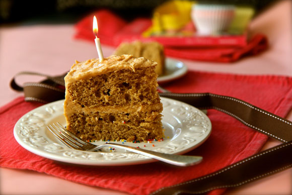 Get the PEANUT BUTTER BIRTHDAY CAKE Recipe