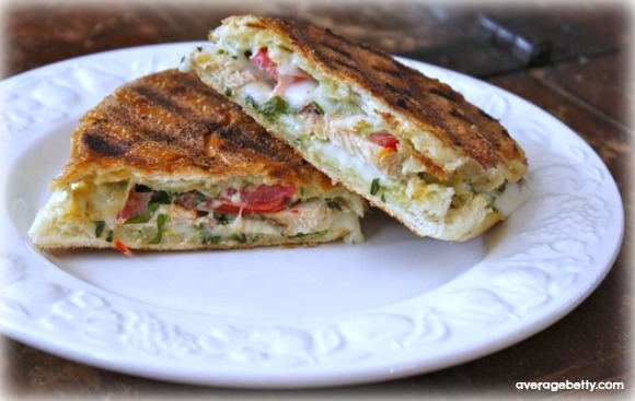 Grilled Chicken Panino with Easy Basil Mayonnaise