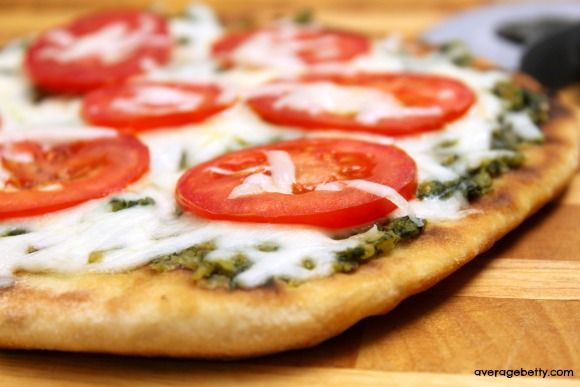 Green Pesto Pizza Recipe