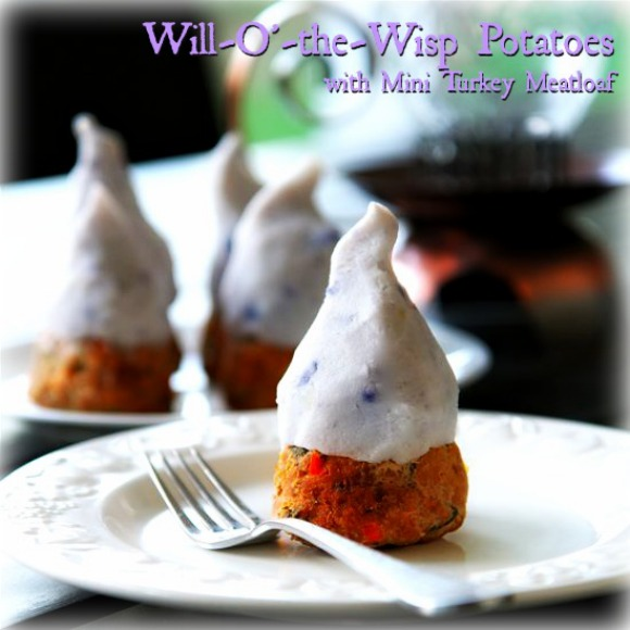 Will-O'-the-Wisp Potatoes with Mini Turkey Meatloaf at Babble.com