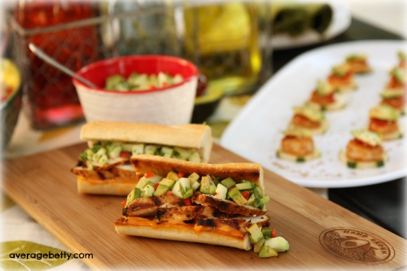 Grilled Chicken Banh Mi with California Avocado and Cucumber Relish Recipe