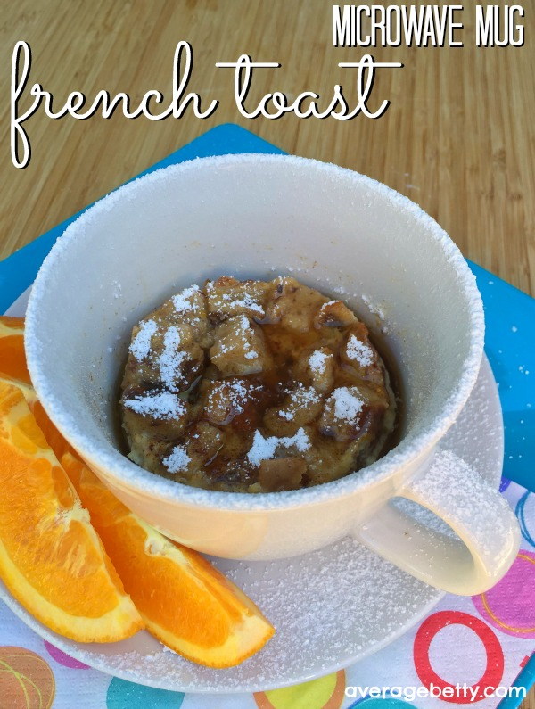 Microwave Mug French Toast Recipe f/ Davidson's Safest Choice Eggs