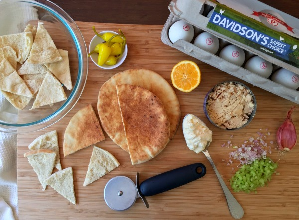 Tuna and Egg Salad Pita Bites Recipe f/ Davidson's Safest Choice Eggs