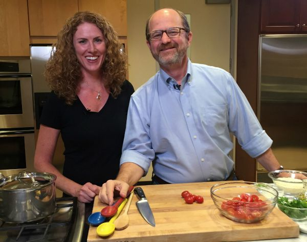 Sara O'Donnell and Russ Parsons at LA Times Test Kitchen