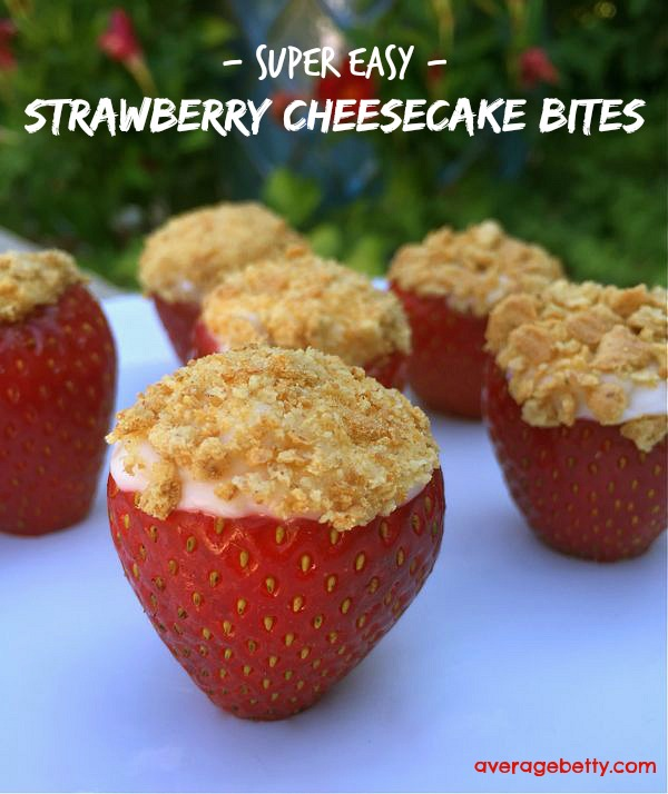 Super Easy Strawberry Cheesecake Bites
