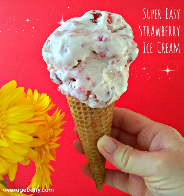 Super Easy Strawberry Ice Cream