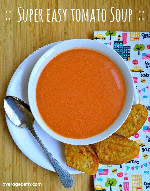 Super Easy Tomato Soup Recipe