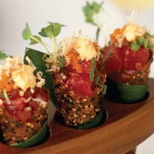 Spicy Tuna Tartare In Sesame Miso Cones Recipe