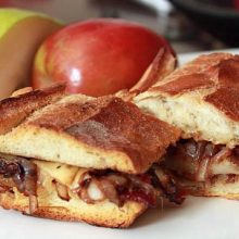 Gouda, Bacon, Pear with Balsamic Onions Sandwich Recipe