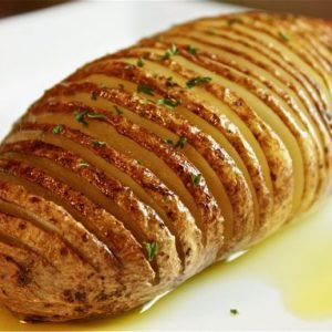 Idaho Hasselback Potatoes - AverageBetty.com