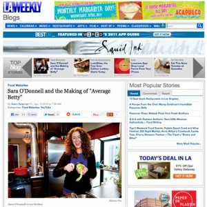 Sara O'Donnell and the Making of Average Betty in LA Weekly
