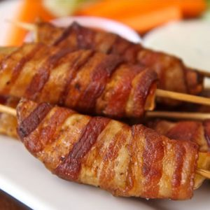 Bacon Wrapped Potato Skewers Recipe
