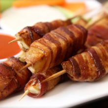 How to Make Bacon Wrapped Potato Skewers Video