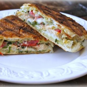 Grilled Chicken Panino with Easy Basil Mayonnaise - averagebetty.com