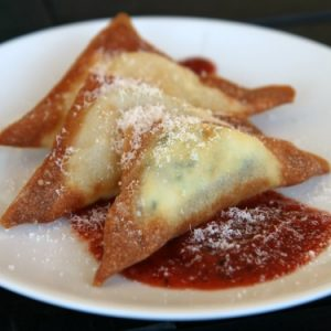 Fried Ravioli with Fire Roasted Tomato Sauce Recipe #FallKickoff