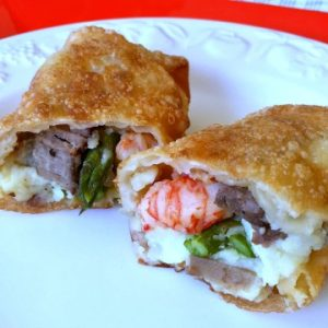 Surf N' Turf Egg Rolls Recipe