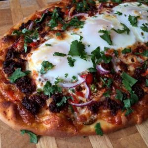 #BRINNER – Chorizo and Eggs Pizza Recipe