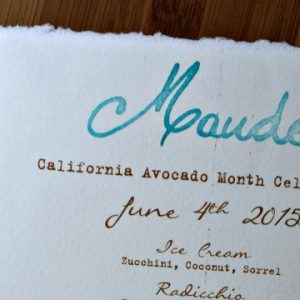 California Avocado Season at Maude Restaurant