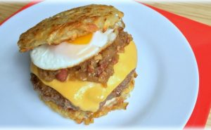 Hash Brown Burger - AverageBetty.com